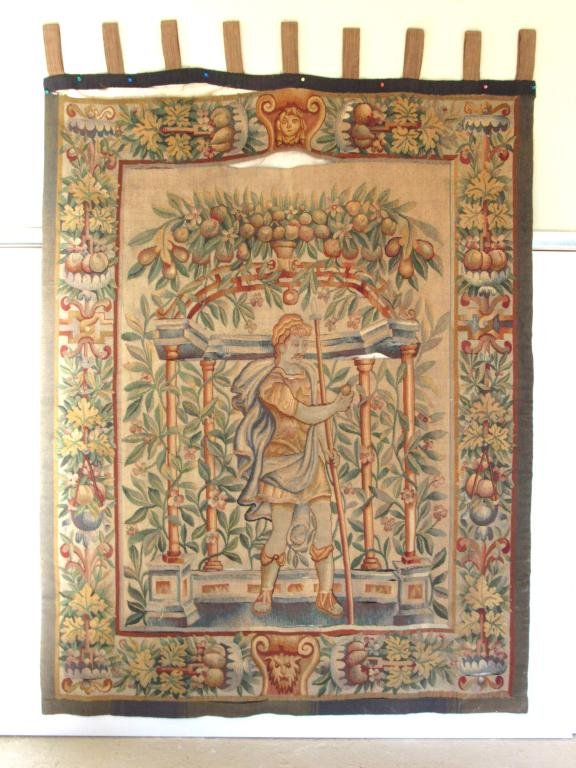 Antique Aubusson Figural Tapestry