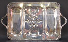 Large Silver Plated WellNTree Platter
