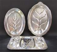 3 Silver Plated WellNTree Platters