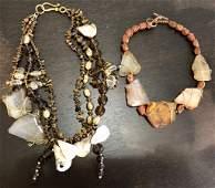 GORJAYOUS Original  2 Costume Jewelry Necklaces