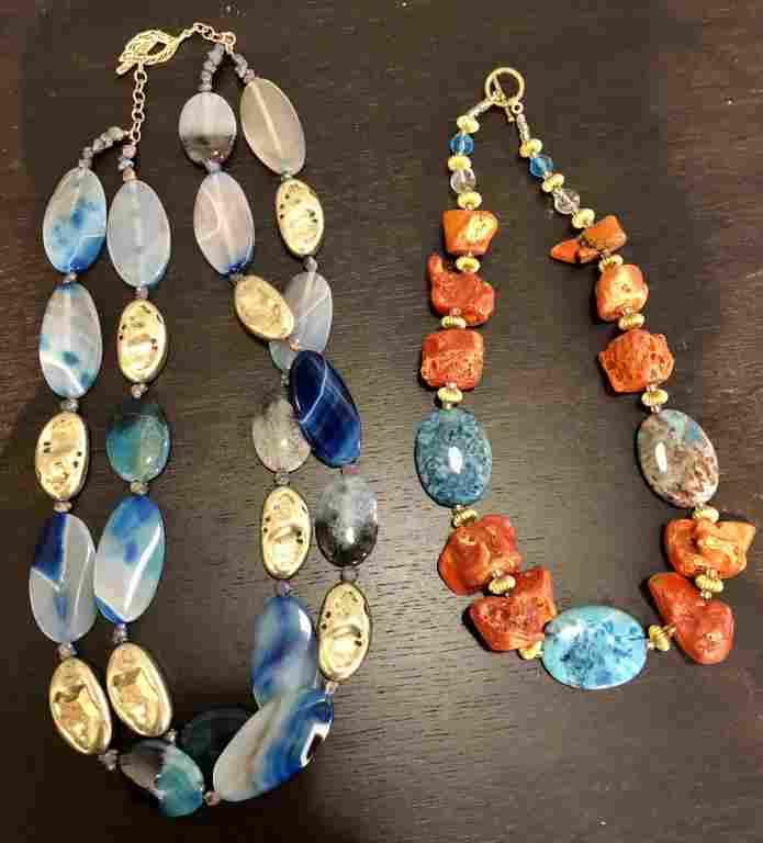 GORJAYOUS Original - 2 Costume Jewelry Necklaces