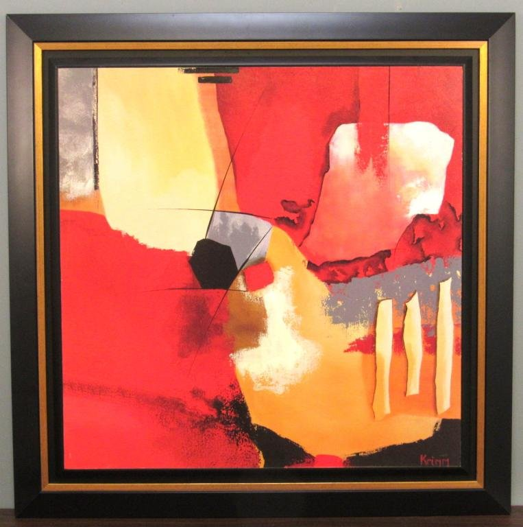Abstract Laminated Framed Picture