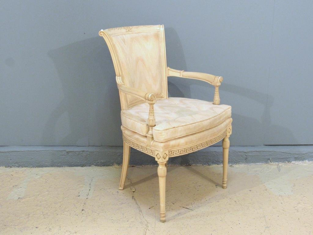 Directoire Style Painted Open Arm Chair
