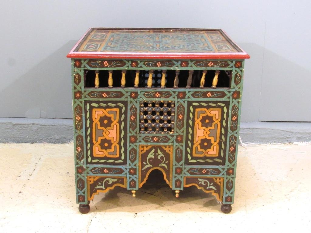 Painted Moroccan Style Square Table