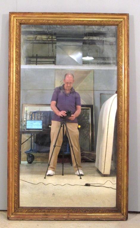 Antique Tall Gilt Framed Mirror