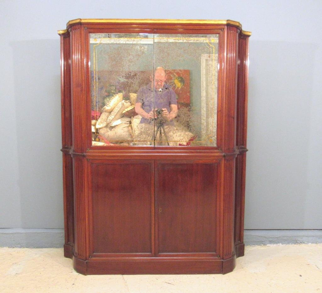 Maison Jansen French Art Deco Bar Cabinet