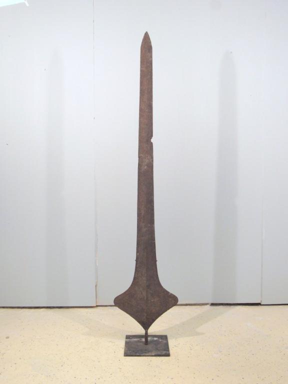 Antique Ethnic Long Metal Halbert / Sword / Spear