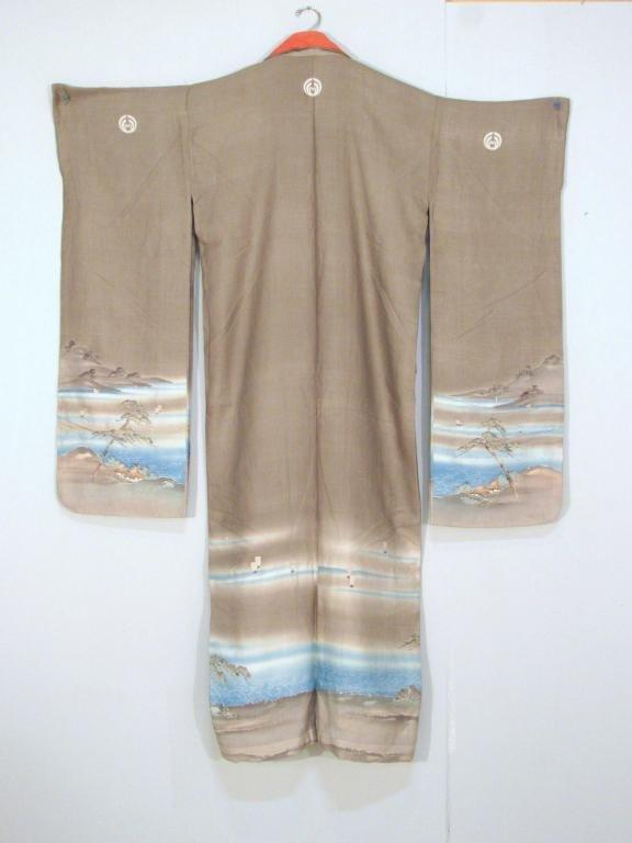 Japanese Painted Silk Kimono