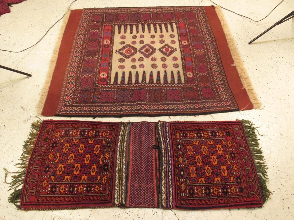 Oriental Rug and Saddlebag