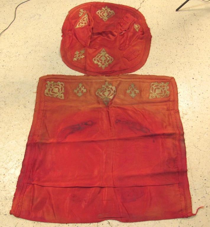 Set of 2 Metallic Thread Riding Cloths