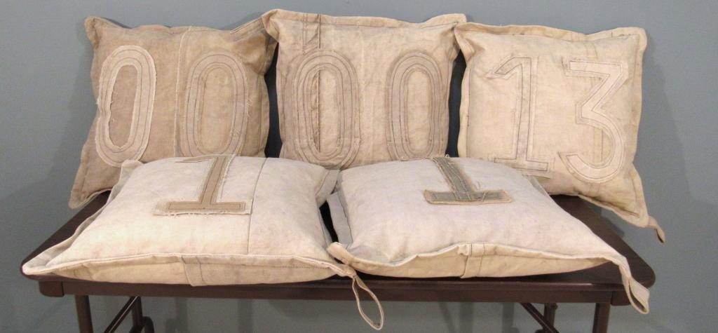 Set of 5 Canvas Pillows