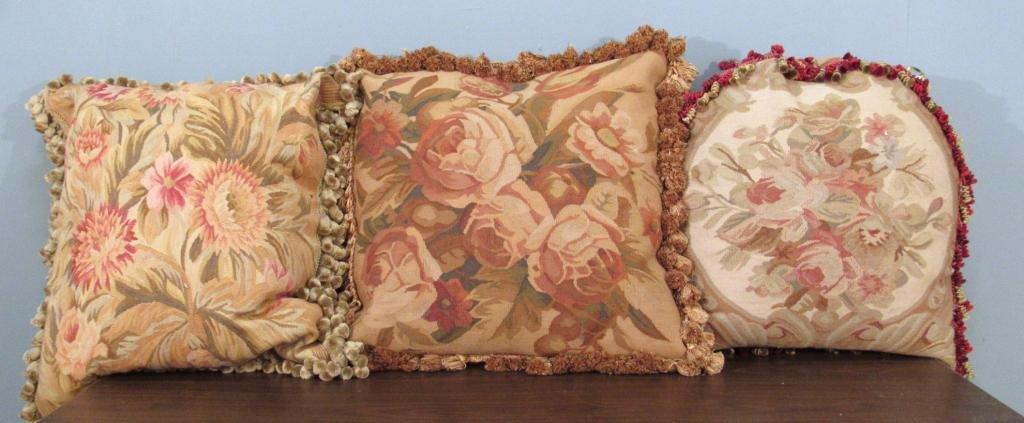 3 Aubusson Pillows