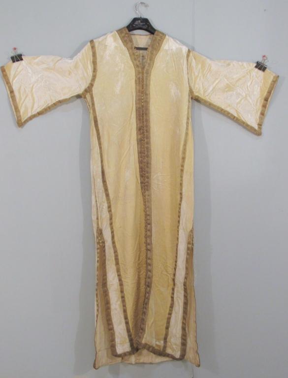 Tan Velvet and Gilt Metallic Thread Wedding Robe