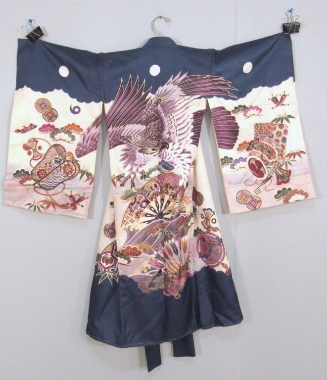 3 Japanese Silk Short Kimonos