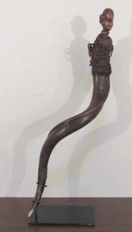 Tribal / Ethnic Long Powder Horn Horn