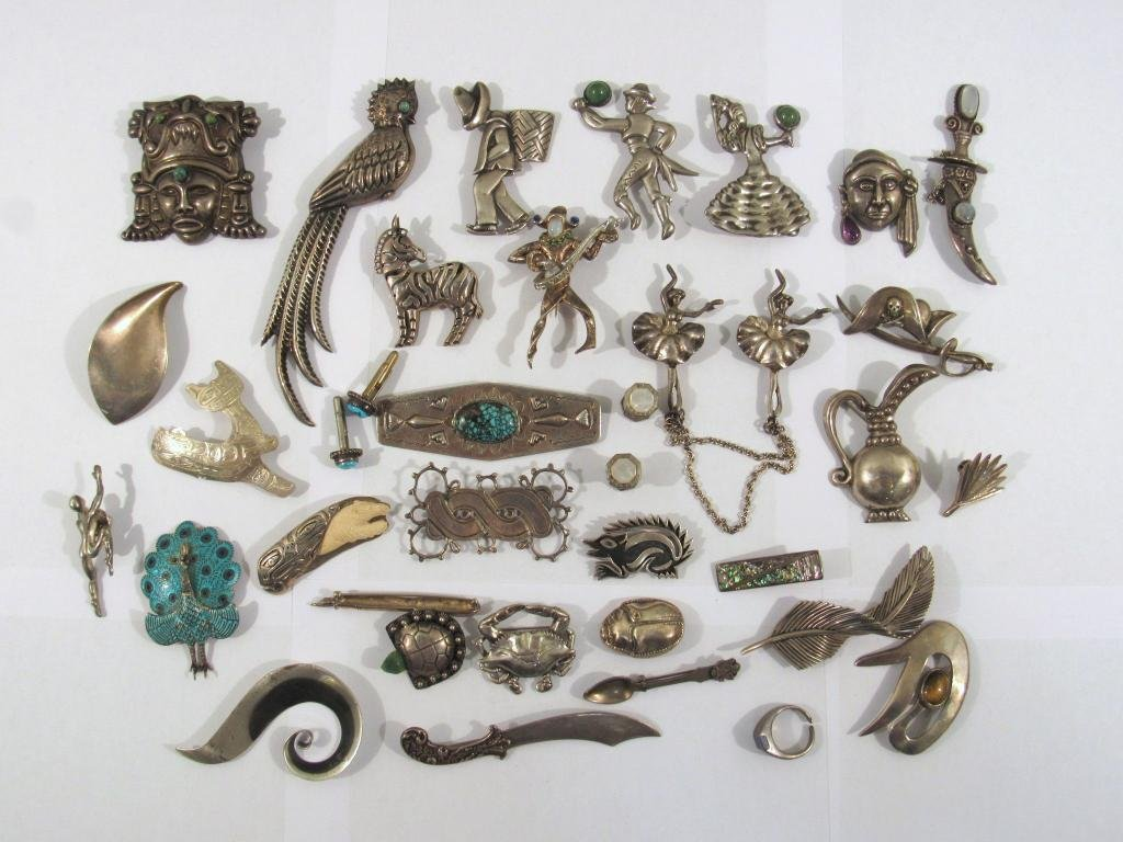 Lot Assorted Sterling Silver Jewelry
