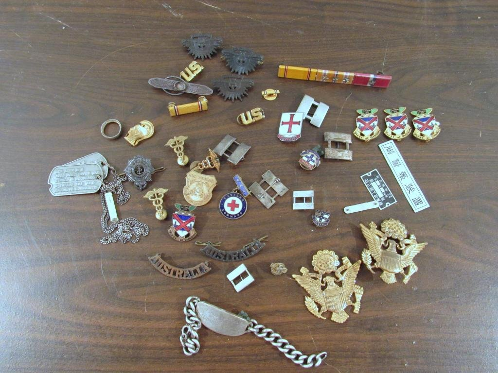 Various Miltary and Medical Pins and Ephemera