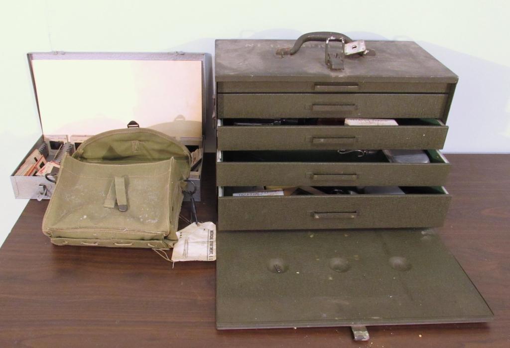 Metal Military Box and Field Medical Bag