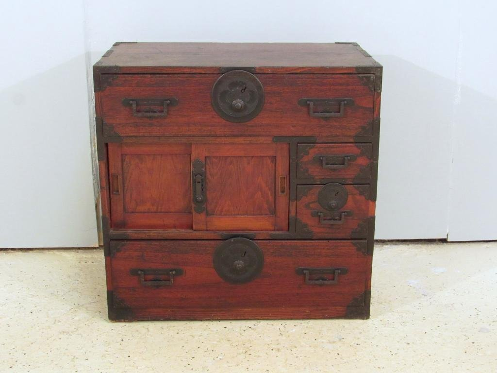 Antique Japanese Low Chest
