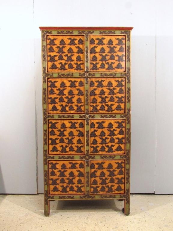 Indian Tall Stained Cabinet