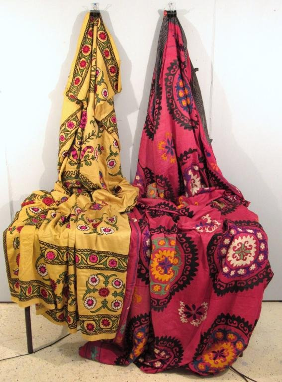 2 Suzani Woven Tapestries