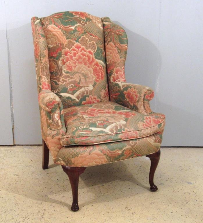 Henredon Queen Anne Style Wing Chair