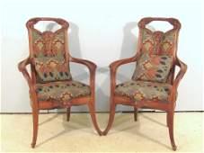 Pair Louis Majorelle Arm Chairs