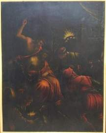 Antique Oil on Canvas After Leandro BASSANO