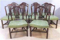 Set of 10 Antique English Dining Chairs