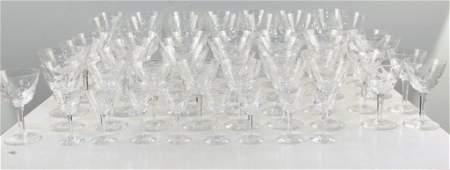 54 Piece Cut Crystal Stemware Set