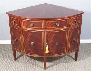 Hepplewhite Style Corner Cabinet