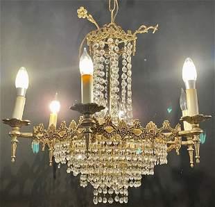 Gold Crystal Chandelier