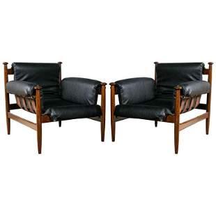 Pair of Finn Juhl Style Lounge Chairs