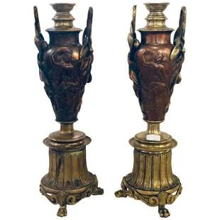 Pair of Art Nouveau Neoclassical Vases