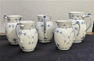 5 Pieces Royal Copenhagen Pitchers