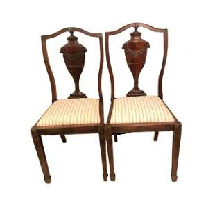 Pair of Adams Style Side Chairs