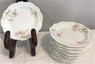 Set of 10 Theodore Haviland Limoges Butter Dishes