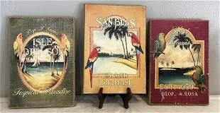 3 Birds of Paradise Paintings