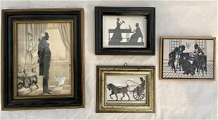 4 Finely Framed Silhouettes
