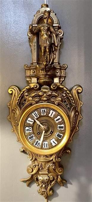 Bronze Cartel Wall Clock