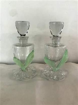 Pair of Venetian Perfume Bottles