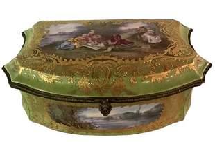 19th Century French Sevres Porcelain Casket