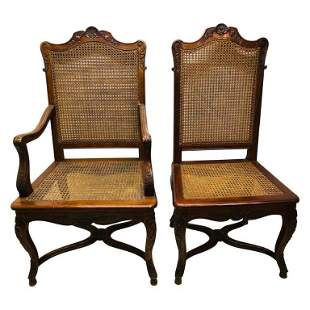 Eight French Country Dining Chairs