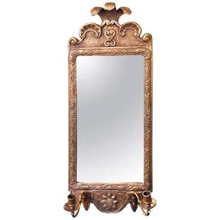 Gilt Gold Wall Mirror Sconce (422-194)