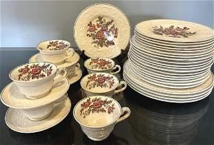 34 Piece Wedgewood Patrician Dinnerware Set