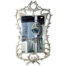 Monumental Silver Over-Lay Mirror (101-7941)