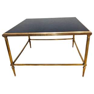 Hollywood Regency Bronze Coffee Table