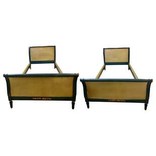 Pair of Maison Jansen Twin Bed Frames (102-7261)
