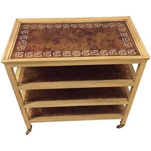 Hollywood Regency Style Trolley Four-Tier Table