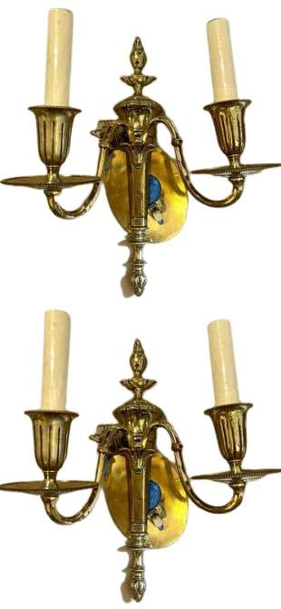 Pair of Brass Sconces (434-11)